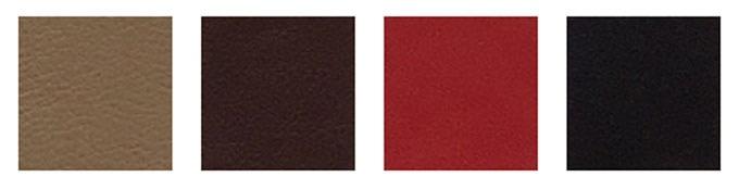 light brown, dark brown, red, black