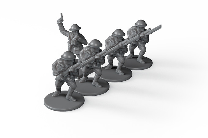 As a stretch goal, we'll add British and German special personnel figures such as the Officer shown here.