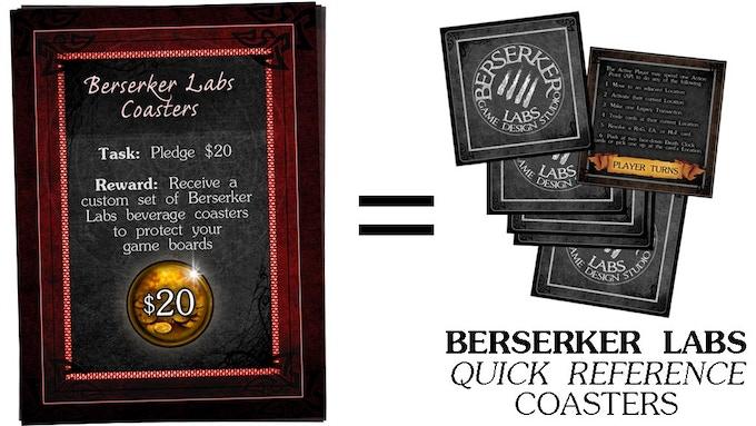 $20 - Berserker Labs Coasters
