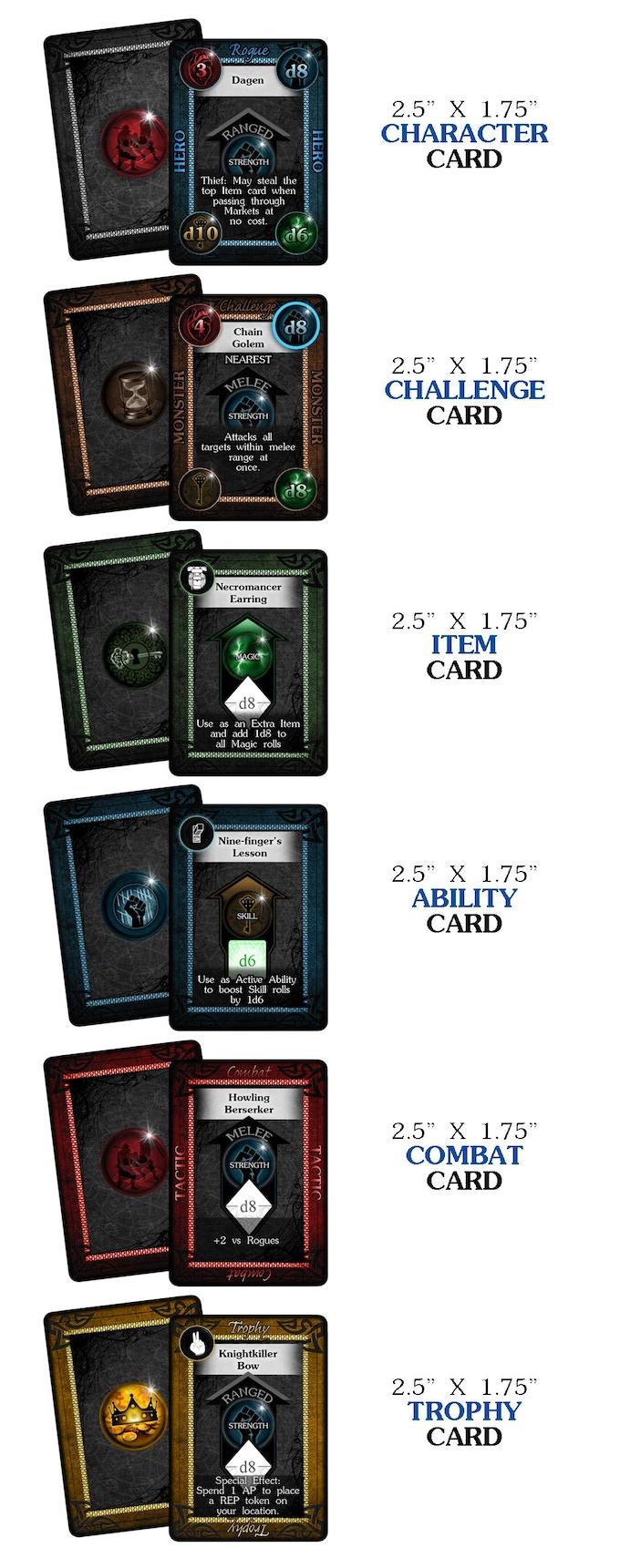 """Card Samples - 2.5"""" x 1.75"""" Decks"""