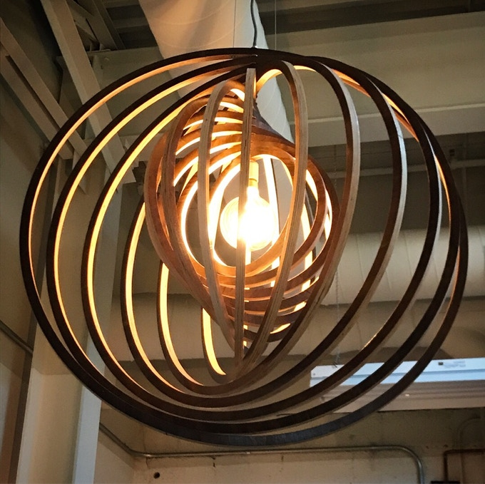 Light Fixture Chandelier Artwork by David Young, actual pieces received will look different, they will be designed specifically for this campaign and its backers and will be made from whiskey barrels.