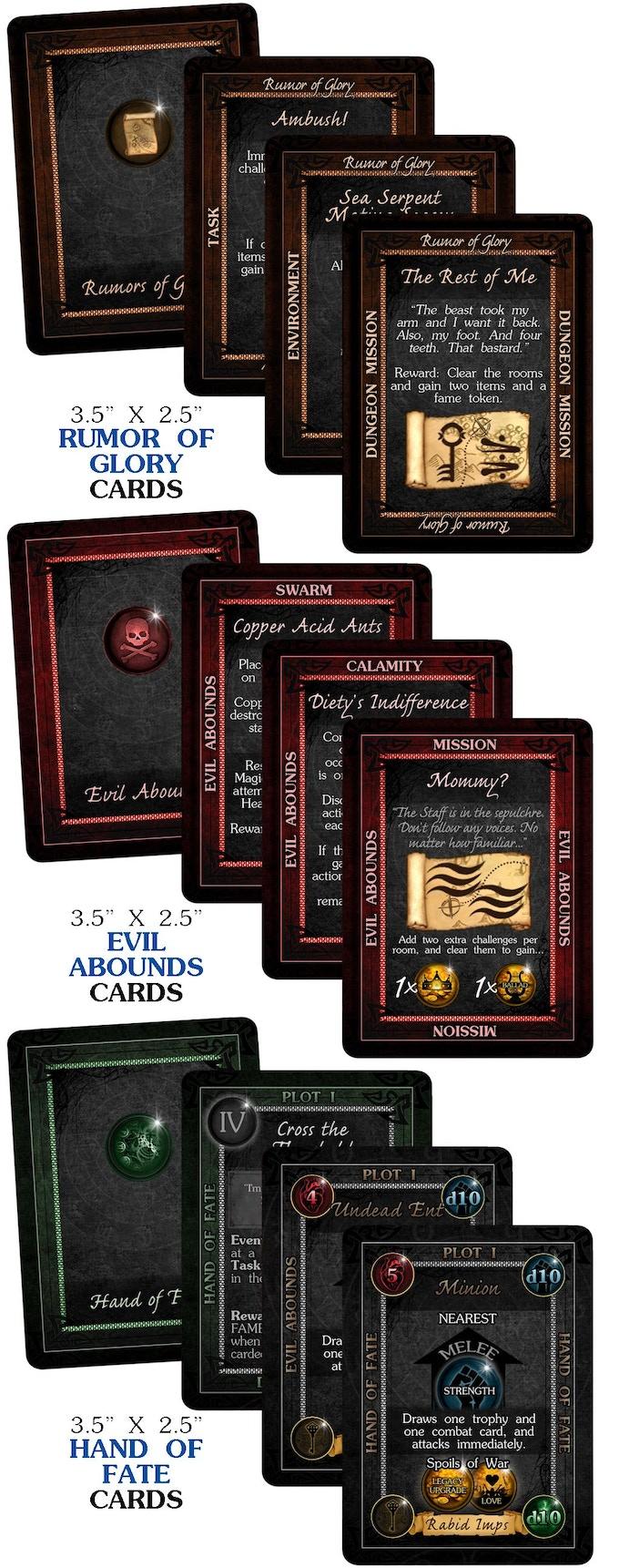 """Card Samples - 3.5"""" x 2.5"""" Decks"""