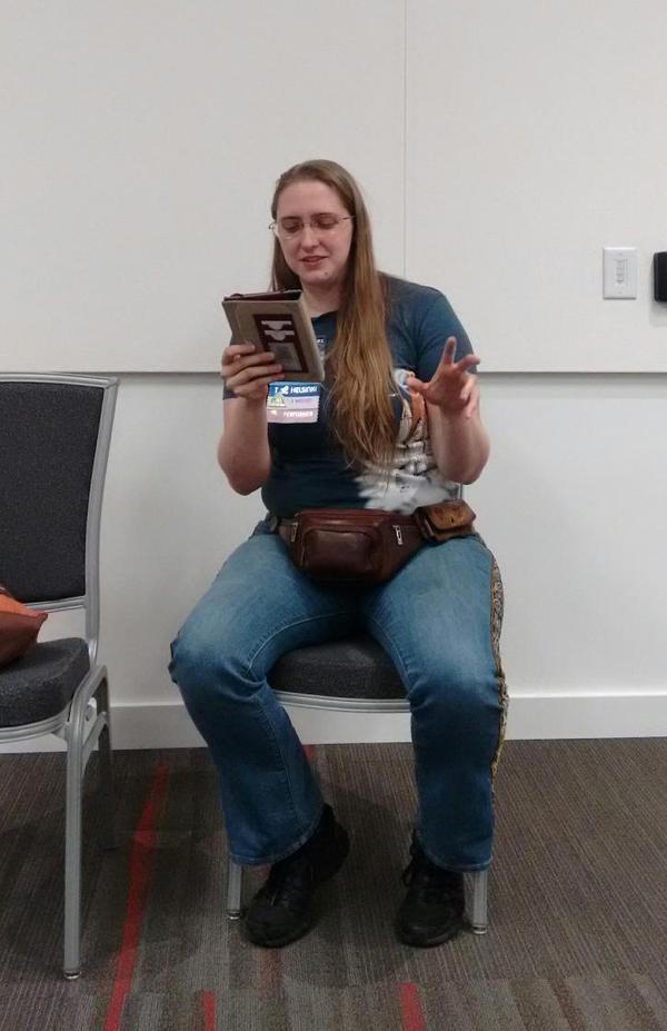 Ada Palmer reading from her Hugo nominated novel Too Like the Lightning