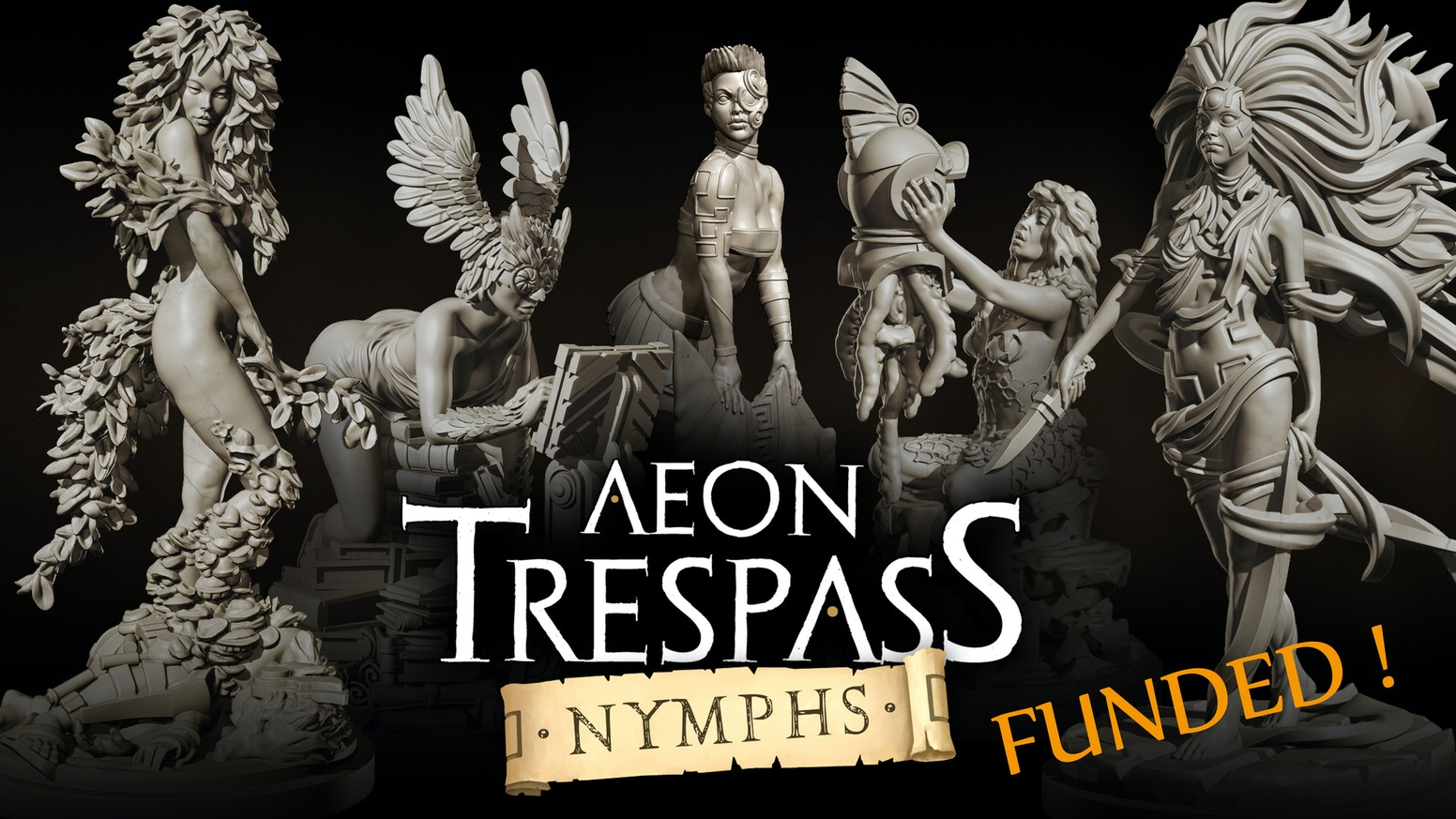Aeon Trespass: Nymphs is a highly detailed series of 32mm pin-up miniatures inspired by Greek mythology and the Science Fantasy genre.