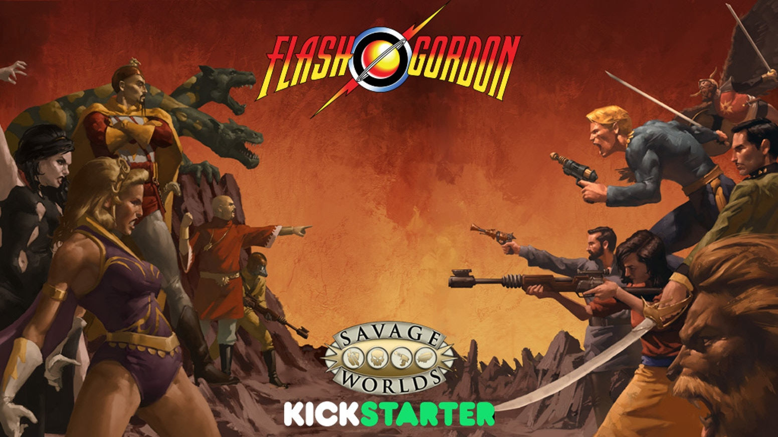 Pulp action at its finest! Use the Fast! Furious! Fun! Savage Worlds game system in the popular cinematic world of Flash Gordon™!