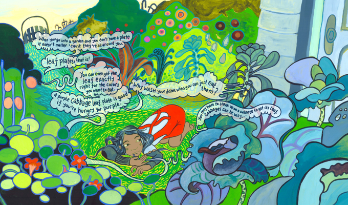 A double-page spread from the book...