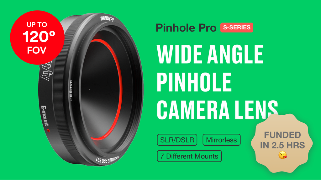 Pinhole Pro S | World's Widest Professional Pinhole Lens project video thumbnail