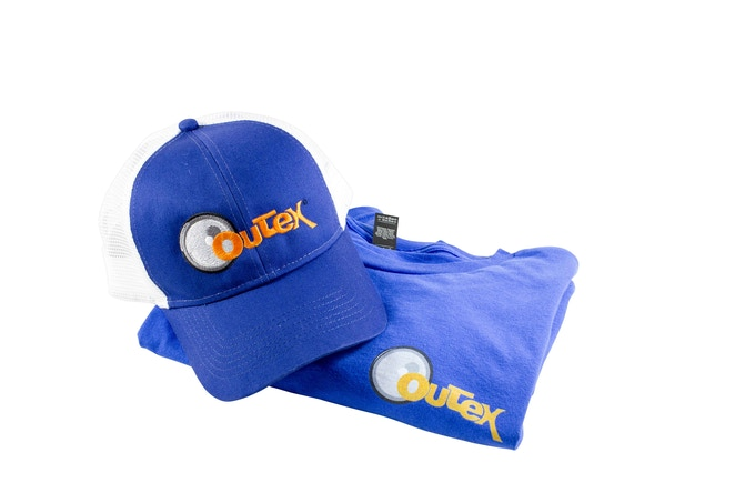 Outex hat and t-shirt