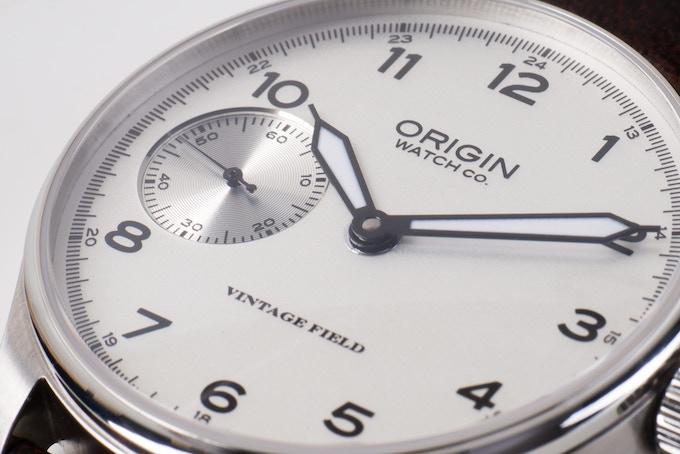 Field Watch White Dial Closeup
