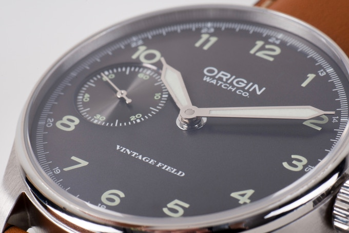 Field Watch Grey Dial Closeup