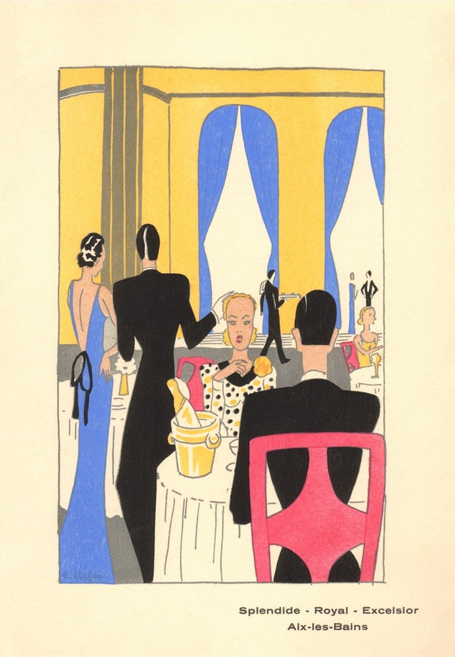 Hotels Splendide - Royal - Excelsior, Aix-les-Bains, France, 1939. Courtesy The Culinary Institute of America Menu Collection.