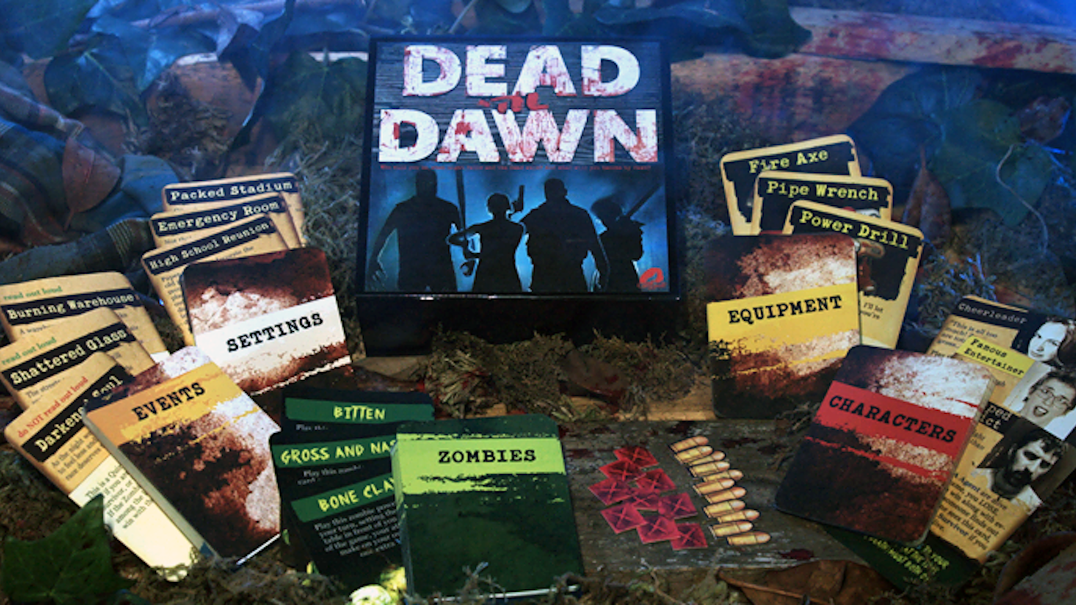 Experience a unique zombie apocalypse story line with your friends full of choices, voting, chance, alliances, combat, and betrayals! Get yours at www.cavewolfgames.com!
