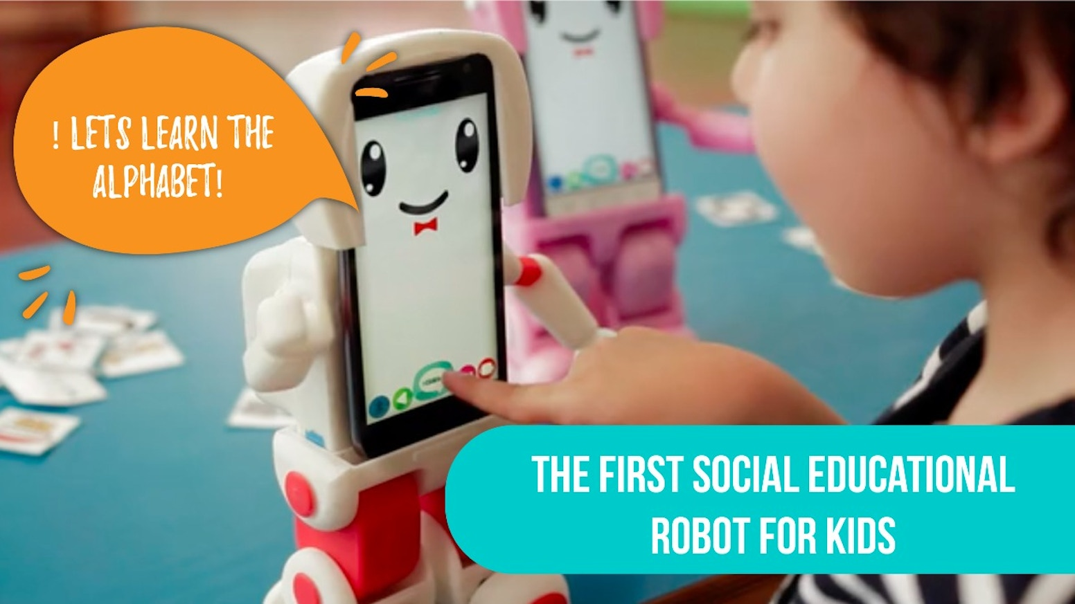 With a robotic body we transform smartphones into social robots and use them as a tool for education.