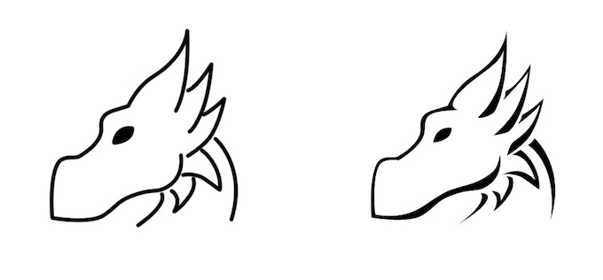 Depending on the level of fine detail while still standing up to regular use, we may end up with something in between these two, or perhaps something with thicker lines.