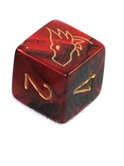 No two gemini/marbled/2-tone dice are exactly the same, but this is a mock up to give a rough idea of what it will be like