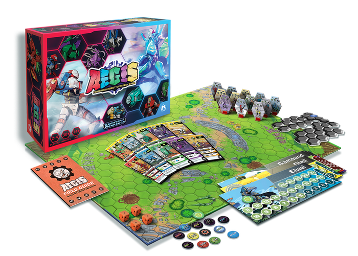 Command your robots. Unite their power. Blitz your opponents in fast-paced, strategic combat. 2 to 4 to 6 players. Quick game time.