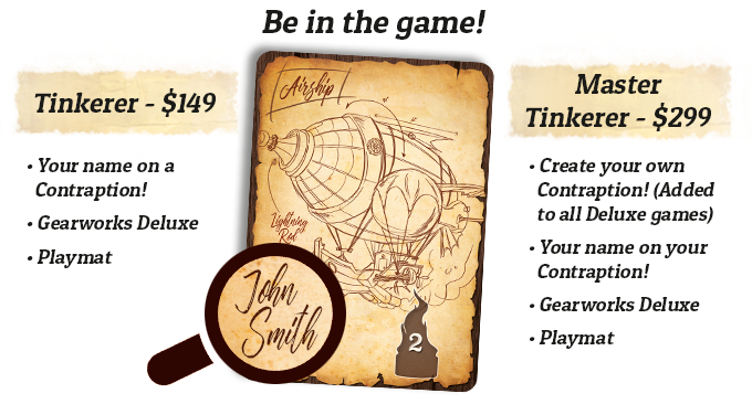 You can create your own Contraption or put your name on an existing card!