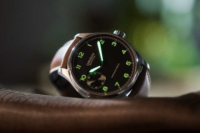 Green Lume on Grey Dial