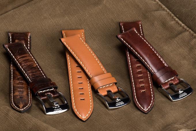 Vintage Look: Dark Brown, Light Brown, and Brown Leather Straps