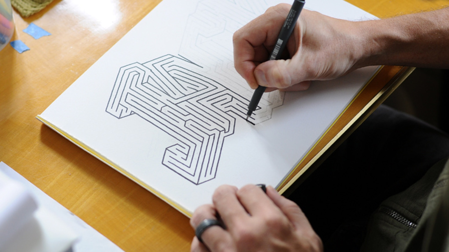 Commission me to turn your name into a cool graphic maze!  A real maze with only one solution, ready to print any size you like.