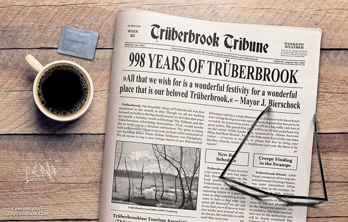 Click to enlarge and dive deep into the Trüberbrookian world lore!