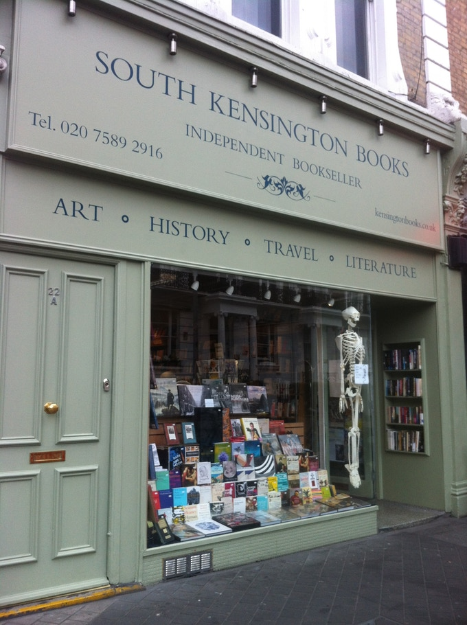 The book launch will take place at the beautiful 'South Kensington Books'