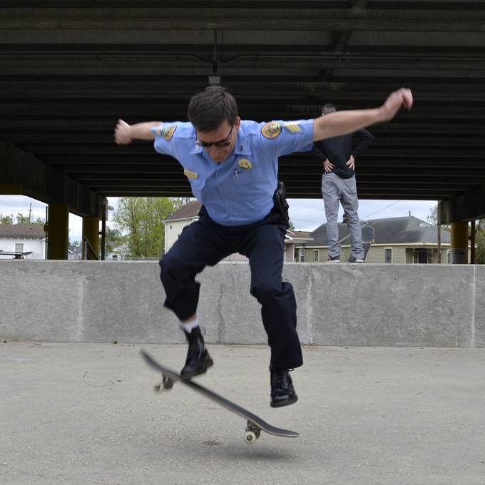 That's the skatecop. Stuff like this actually happens at Parisite.