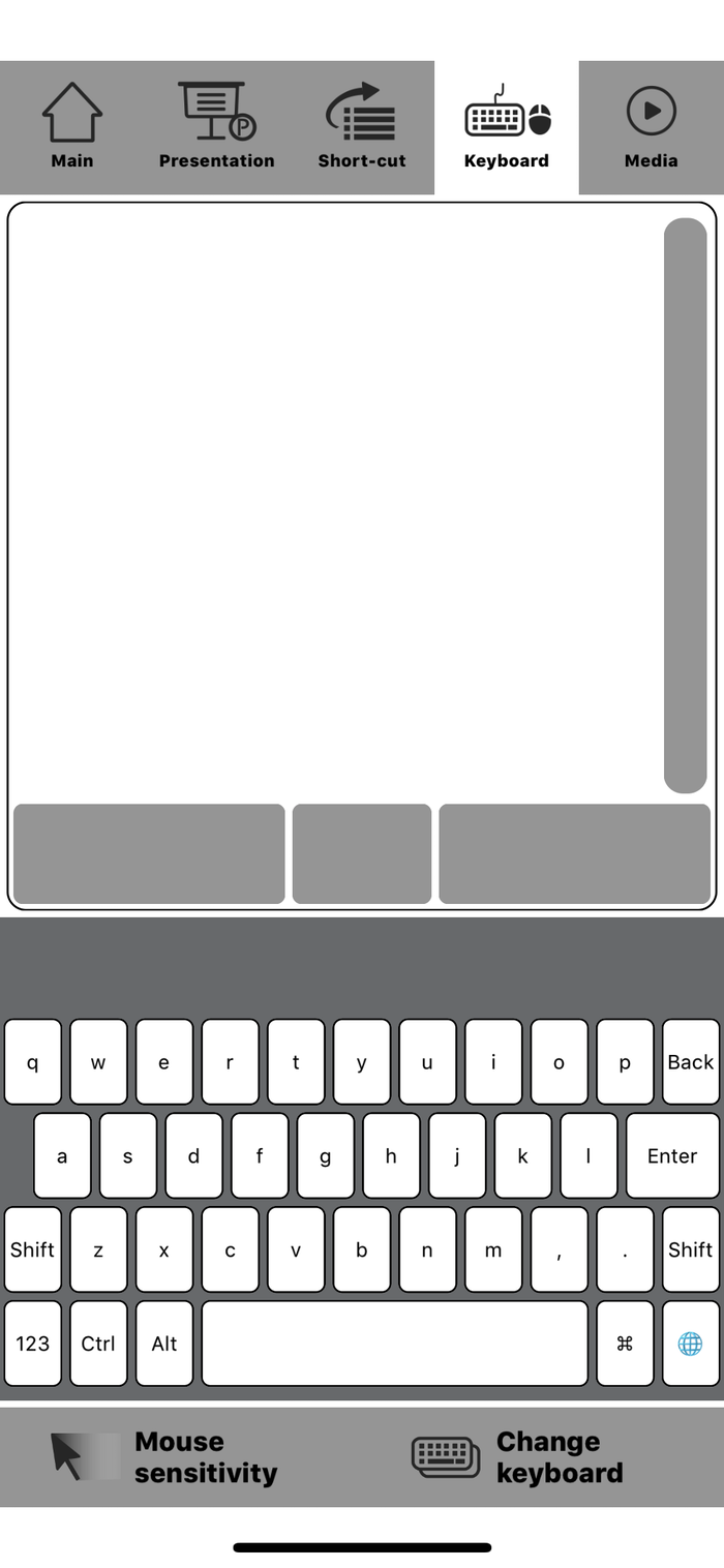 AnyTouch Blue - Smart Keyboard & Mouse USB Dongle(Restart