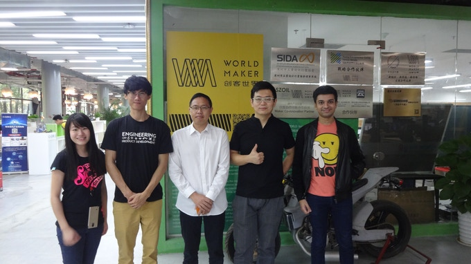 Our team at World Maker group, a platform for entrepreneurs to develop their products in Shenzhen