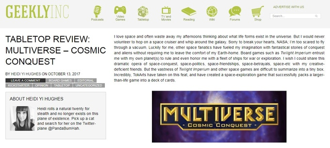 Click this image to read the full review by Geeklyinc.com's Heidi Yi Hugues.