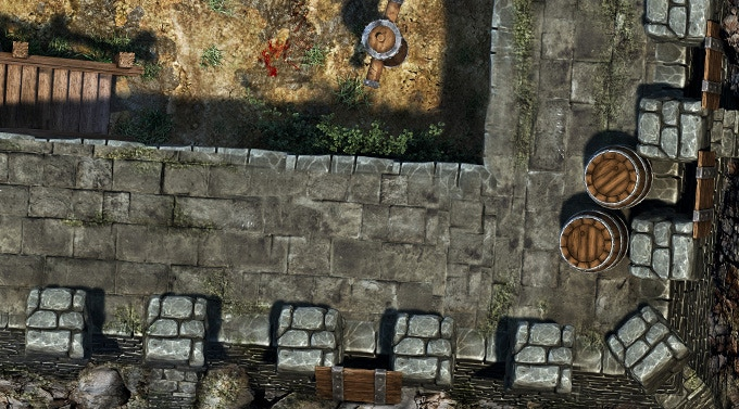 Fortress walls - Fortress set (no grid version)