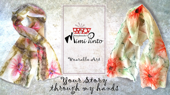 Hand crafted Merino Scarves by Mimi Pinto