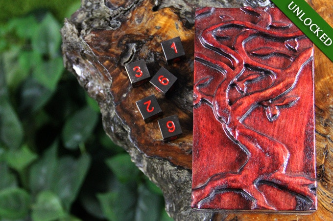 Dice Tower in Demon's Blood with Yggdrasil Sculpted Design.