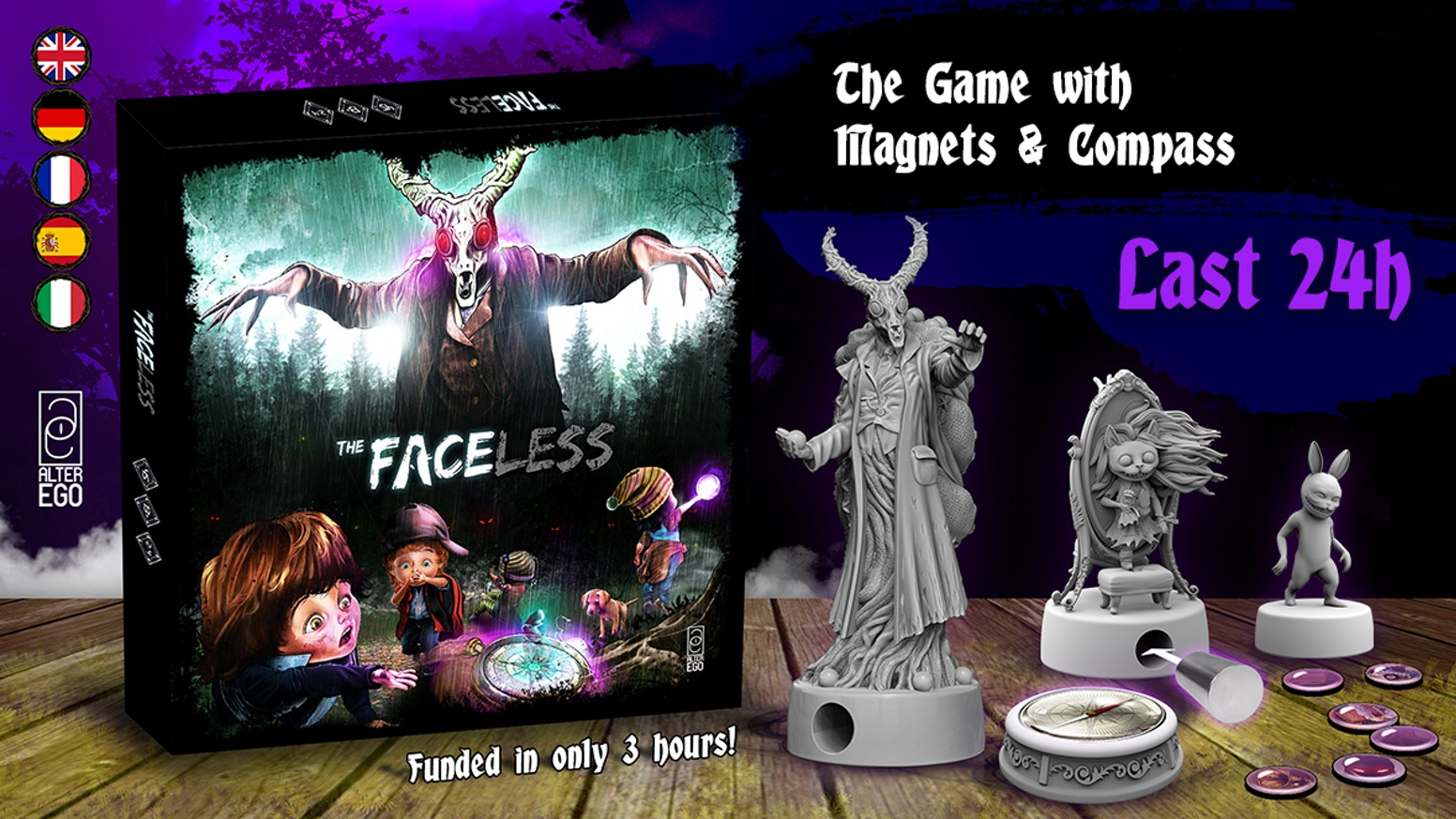 The Faceless is the top crowdfunding project launched today. The Faceless raised over $347112 from 5644 backers. Other top projects include Premium Estate Chocolate Colombia Carsilk - Blissful Desire, A wrestling-based film company; presenting: