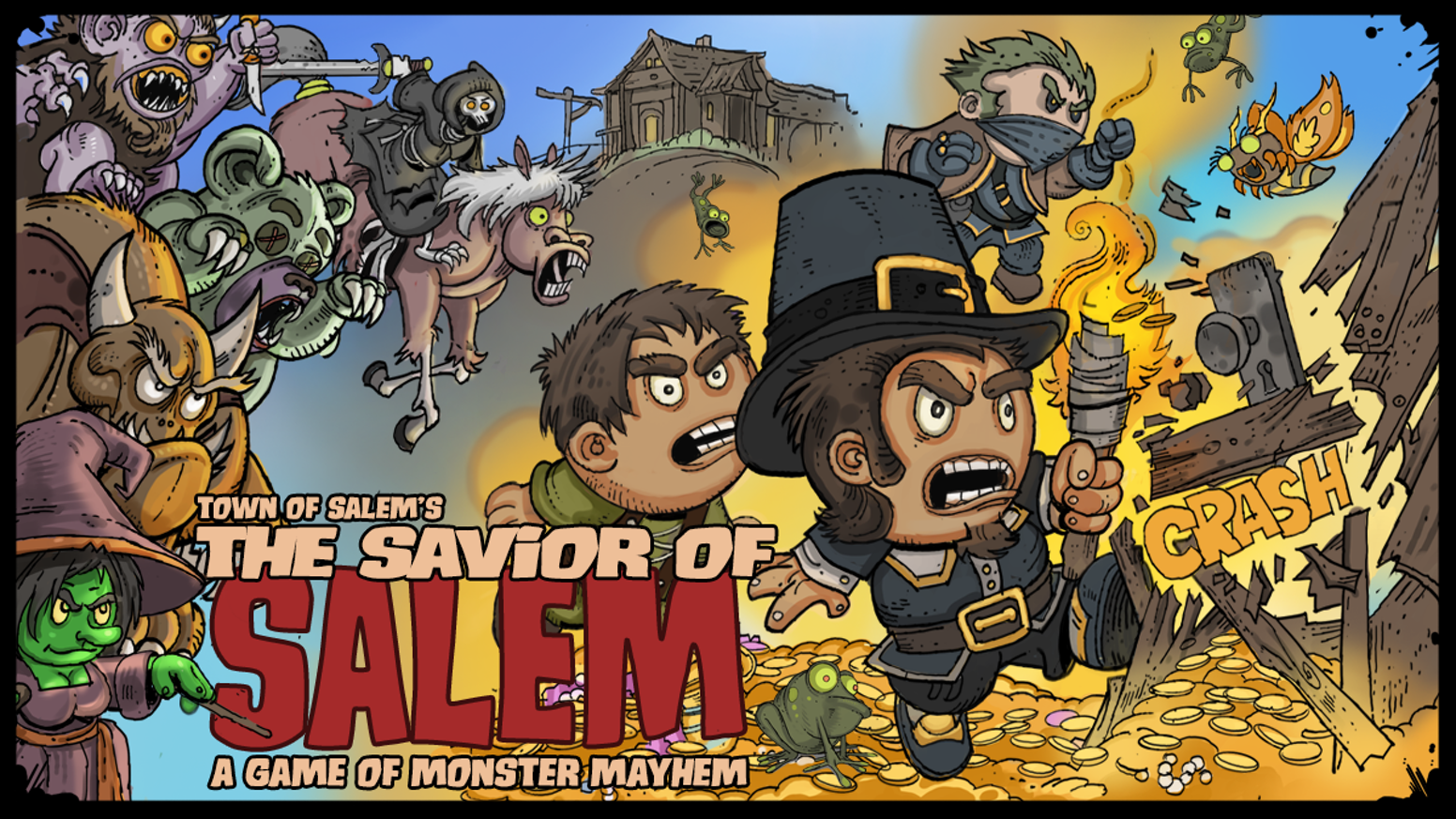The Savior of Salem is a simple, easy to learn, multiplayer RPG dungeon crawling card game in the Town of Salem world.