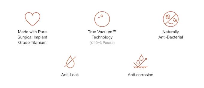 Worlds First Pure Titanium Thermos Vacuum Bottles By Ti22 Kickstarter