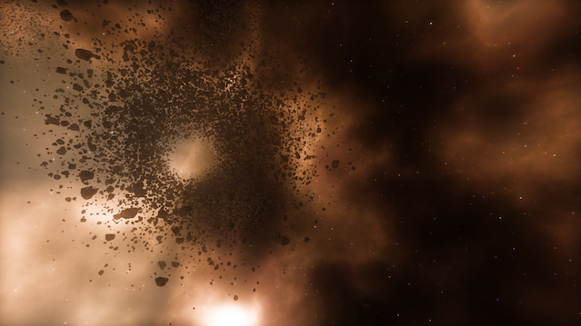 Contrived Example: Plowing a Hole Through an Asteroid Field with a Massive, Spherical Ship