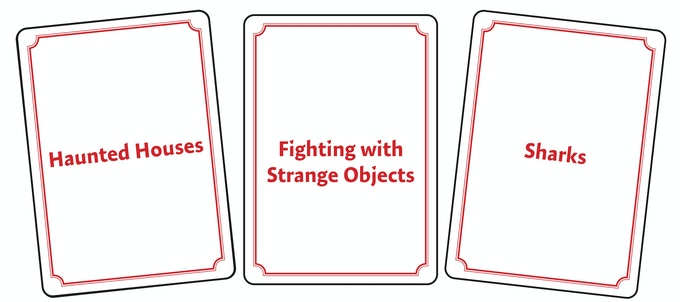 Theme Cards: 180,000 combinations of ideas!