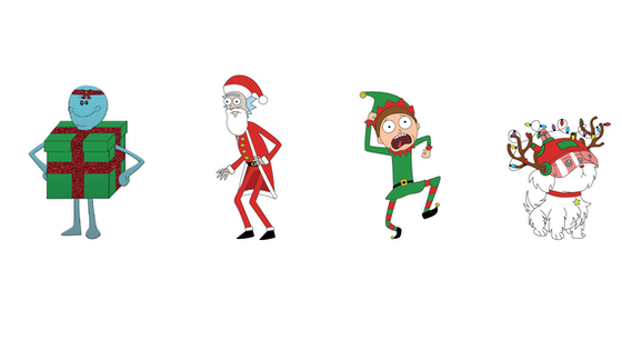 Rick And Morty Christmas.Track Rick And Morty Christmas Soft Enamel Pins S
