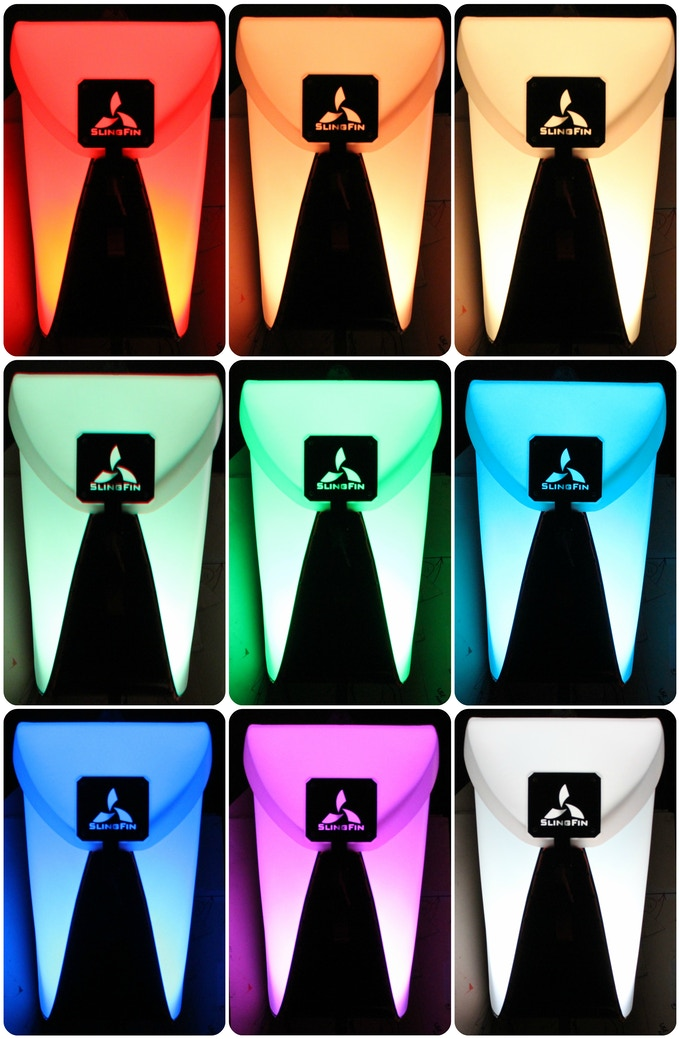 The pack with a Luci® Color on cycle mode.