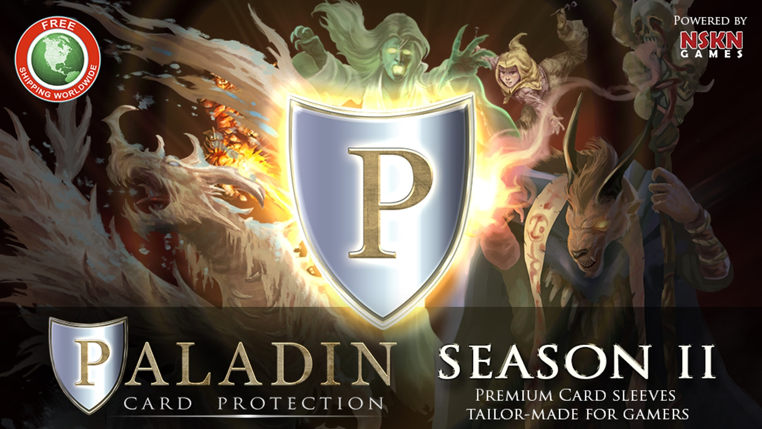 Premium card protectors for gamers. The Paladin returns with even more types of card sleeves - and the same premium quality.