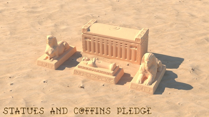 Statues and Coffins