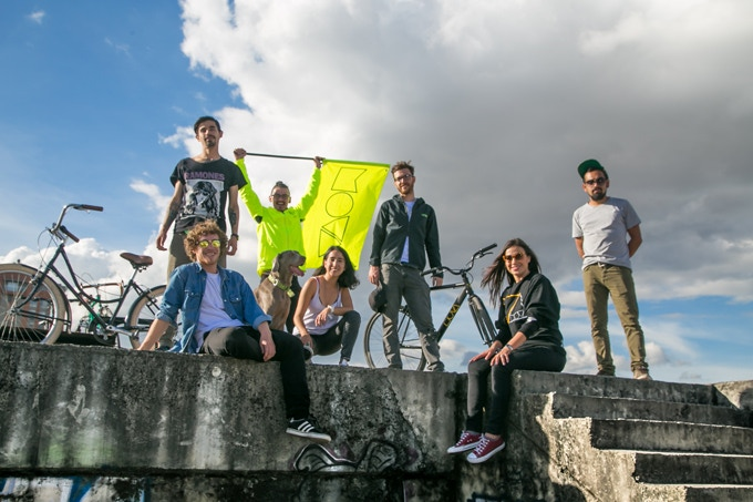 Here is the MOVA Team behind the project! From left to right: Pelos, Simon, Jager (the dog), Raul, Daniela, Roland, Andrea and Chevy