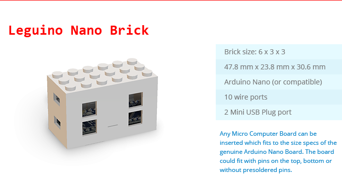 Leguino- Merging Lego® with Arduino™ -you are the inventor! on