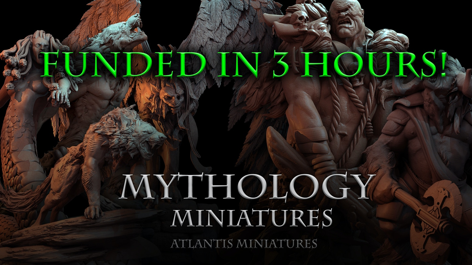 A glorious mix of mythological resin miniatures in 28mm scale!
