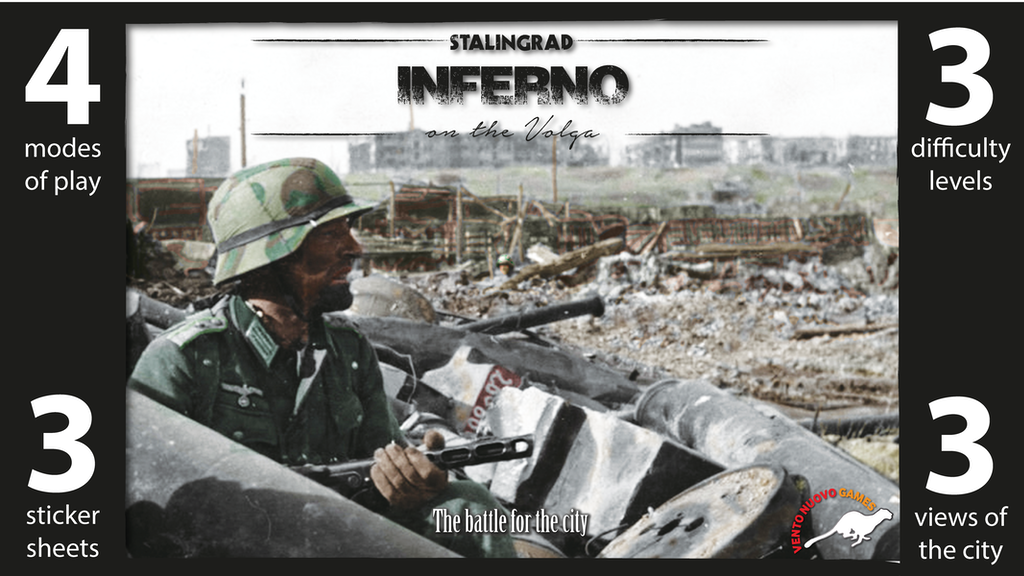 Stalingrad: Inferno on the Volga. WW2 solo, 2, 3 player game project video thumbnail