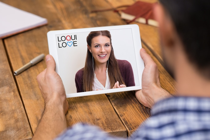 On the loquilove app you interact just like you are used to on skype or your mobile device.