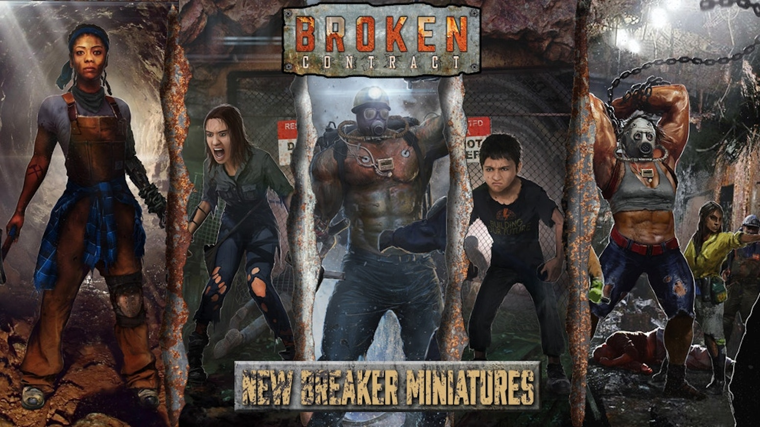 We want to complete the Broken Contract Breaker miniature range with two multi-part miniatures for every character type.