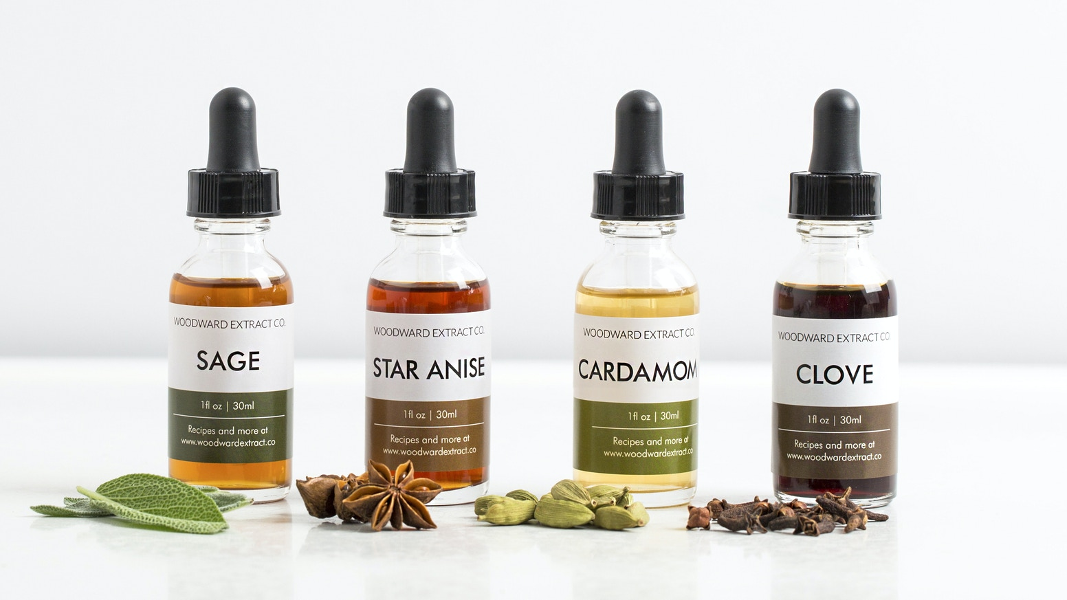 Spice up your home bar with new seasonal flavors from Woodward Extract Co. and exclusive recipes from Brooklyn-based distillers