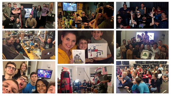 Fans watching the Giant Robot Duel all over the world!